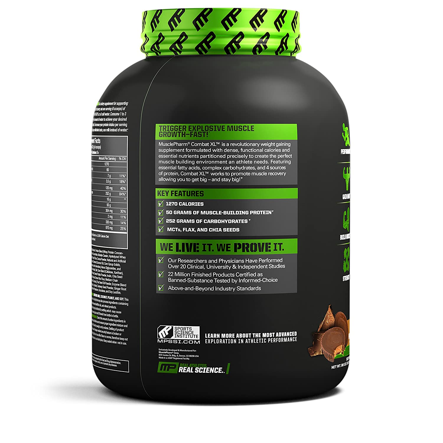 Musclepharm Combat XL Mass Gainer Sport Series Chocolate Peanut ...