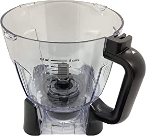 Ninja 64oz (8 Cup) Food Processor Bowl Only for BL640 BL641 BL642 BL642W BL642W1 BL642Z BL680 BL680A BL681A BL682 Duo Auto iQ Blender