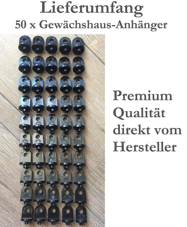 KRONLY 50 St/ück Gew/ächshausclips ✔Premium Qualit/ät ✔witterungsbest/ändig ✔ Fester Halt Gew/ächshaus Zubeh/ör Gew/ächshausanh/änger /Ösen Aufh/änger