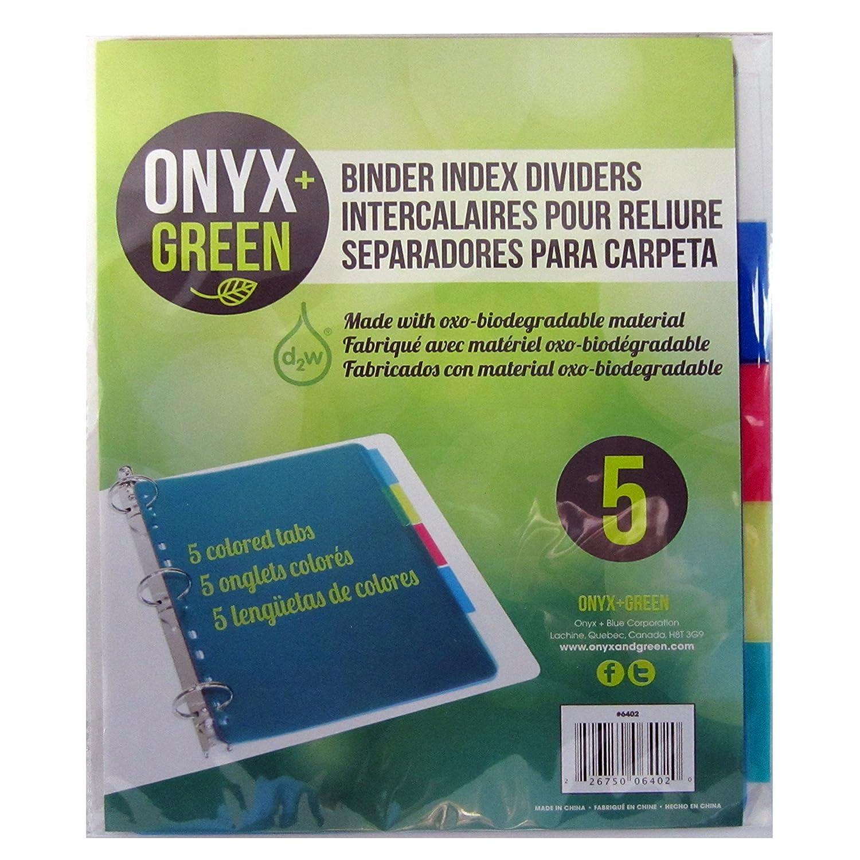 Onyx y verde 5 unidades divisores con pestañas, Poly, oxo ...