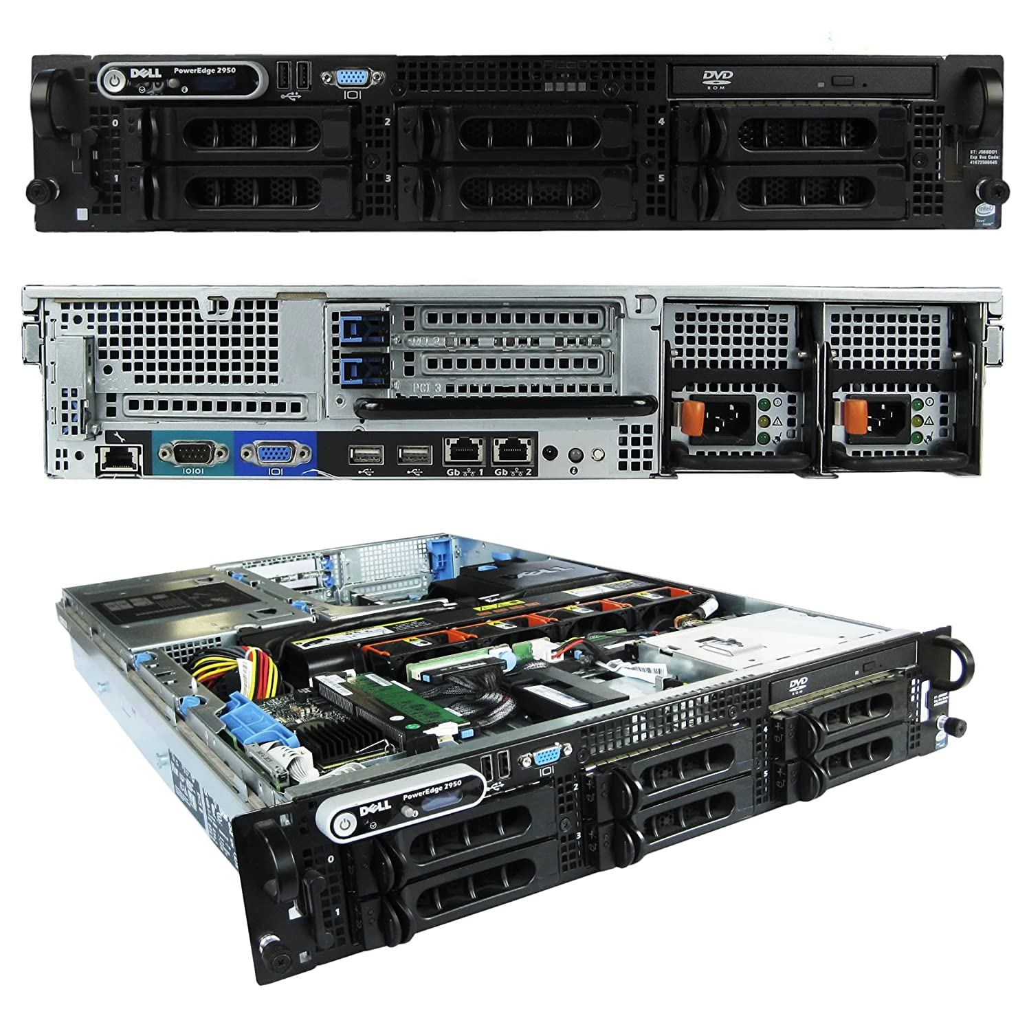 Amazon.com: Dell PowerEdge 2950 Server with 2x3.0GHz Xeon Processors and  16GB Memory - - 2x73GB / PERC 5 RAID 10K SAS Hard Drives - No OS -:  Computers & ...