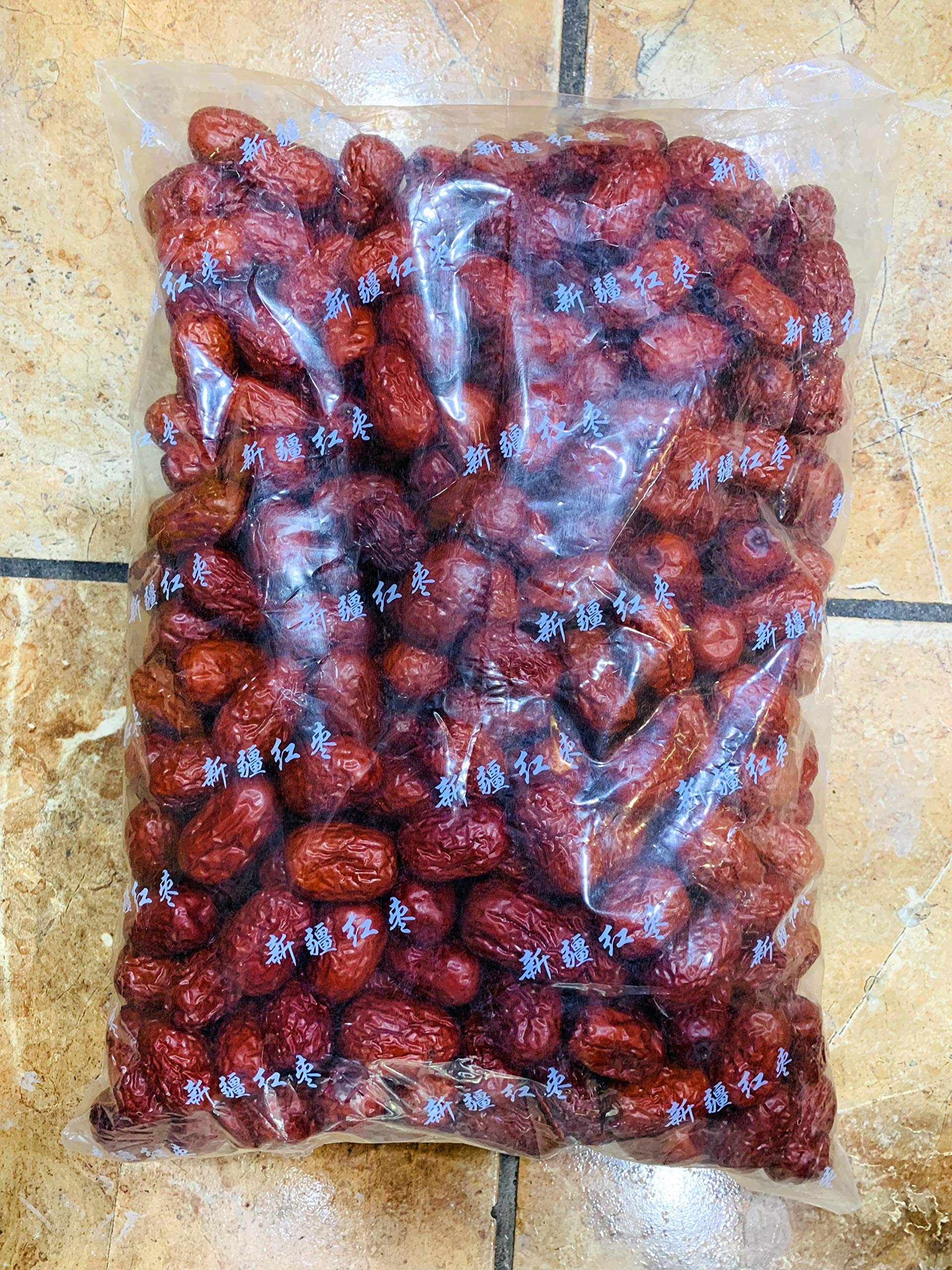 Red Jujube / Red Chinese Dates 新疆红棗 (5.5 LB (1 Bag))