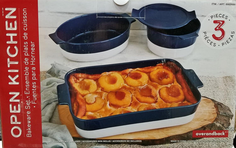 Over-and-Back 3-Piece Bakeware Serving Set (Blue)