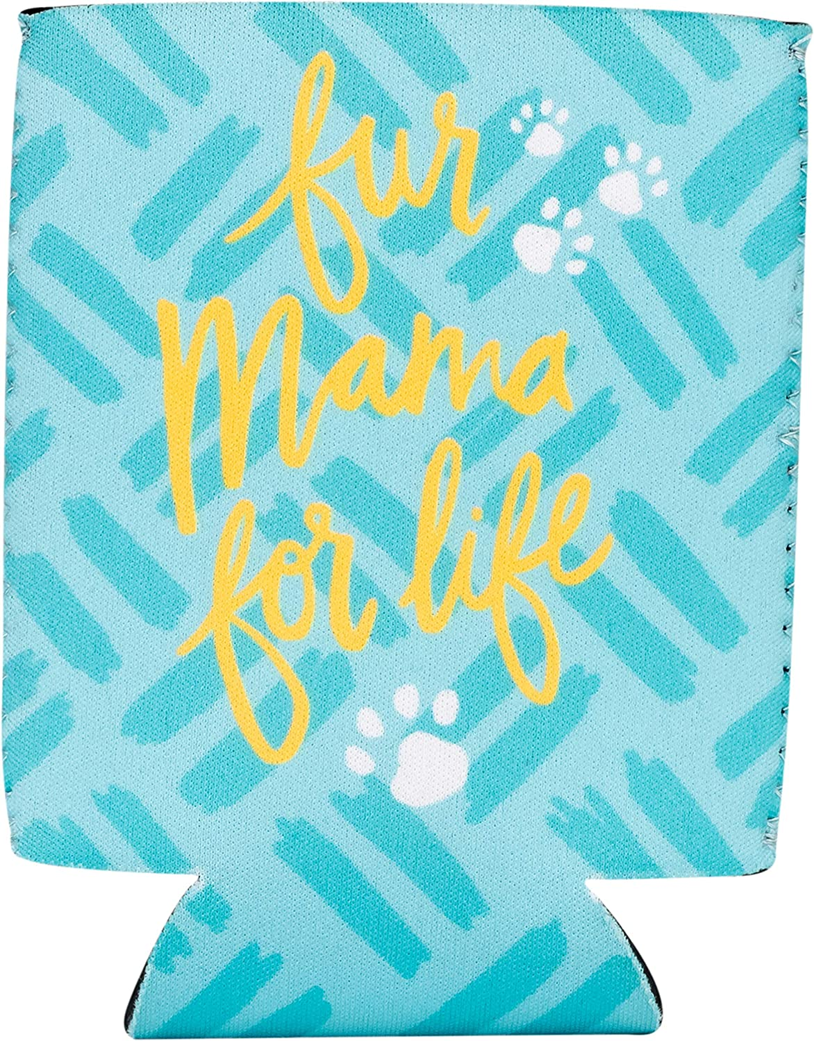 About Face Designs Fur Mama for Life On Blue 4 x 4.75 Neoprene Beverage Sleeve