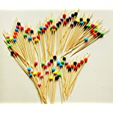 """ReaLegend 4.7"""" Cocktail Sticks Party Frilled Toothpicks, Sandwich, Appetizer, Cocktail Picks Party Supplies Plates Picks 100 Count - Multicolor Ball"""