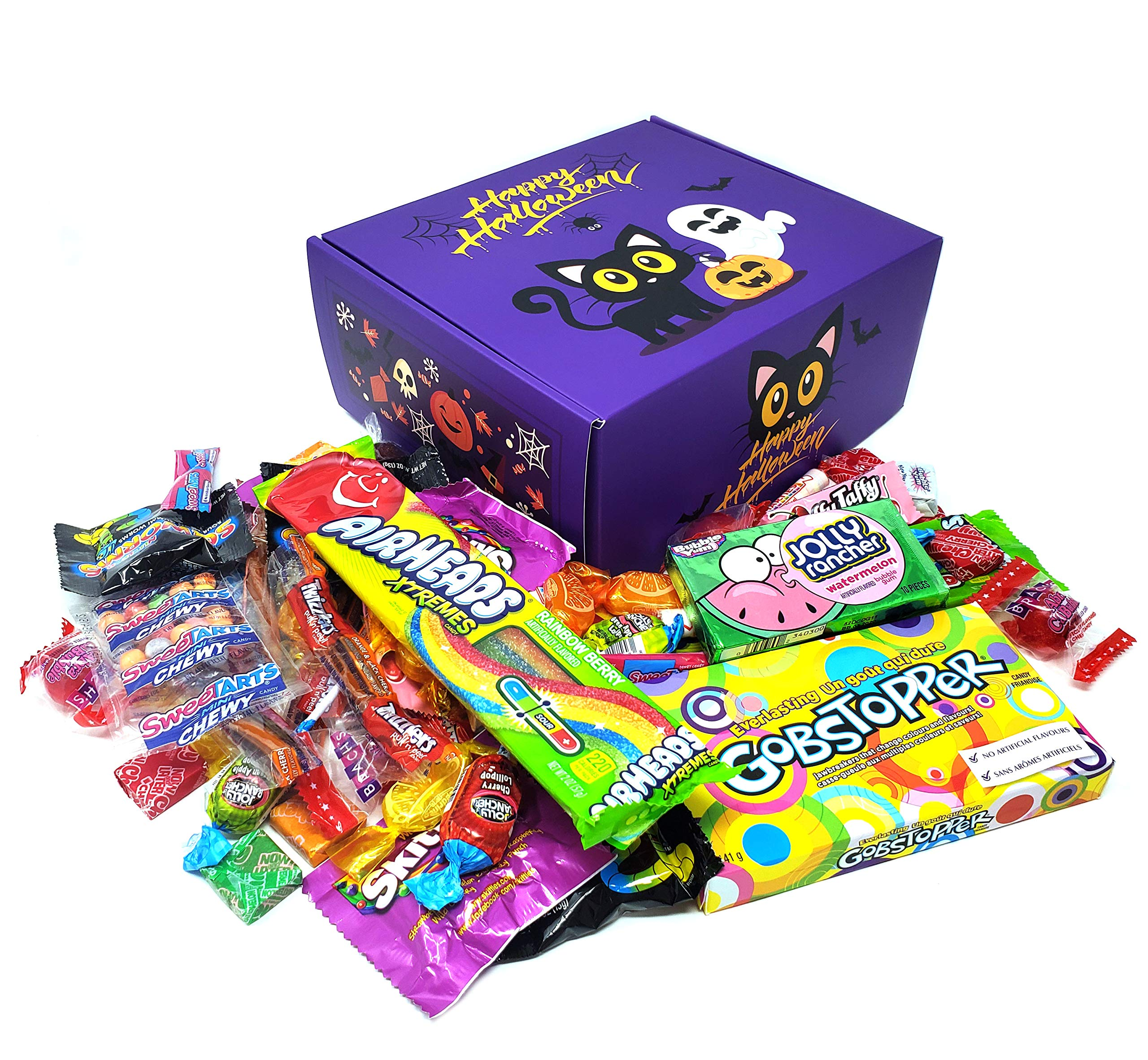 Halloween Favor Candy Box - Gobstopper, AirHeads, Skittles, Sqworms, Smarties, SweeTarts, Brach's, Laffy taffy, Now and Later, Butterscotch and More, 4 Lbs by CRAZYOUTLET