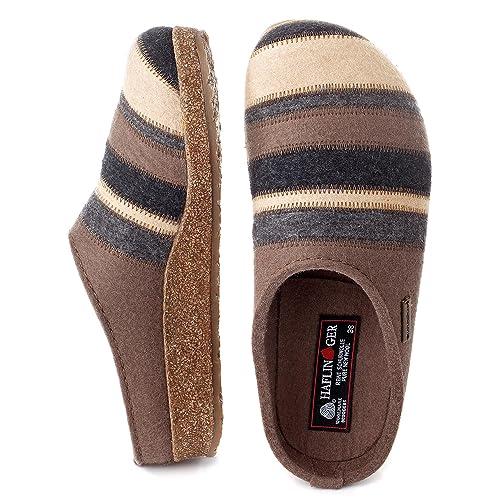 Haflinger Grizzly Stripes 711049 - Zapatillas de casa de fieltro para mujer, schuhgröße_1:42 EU;Farbe:violet