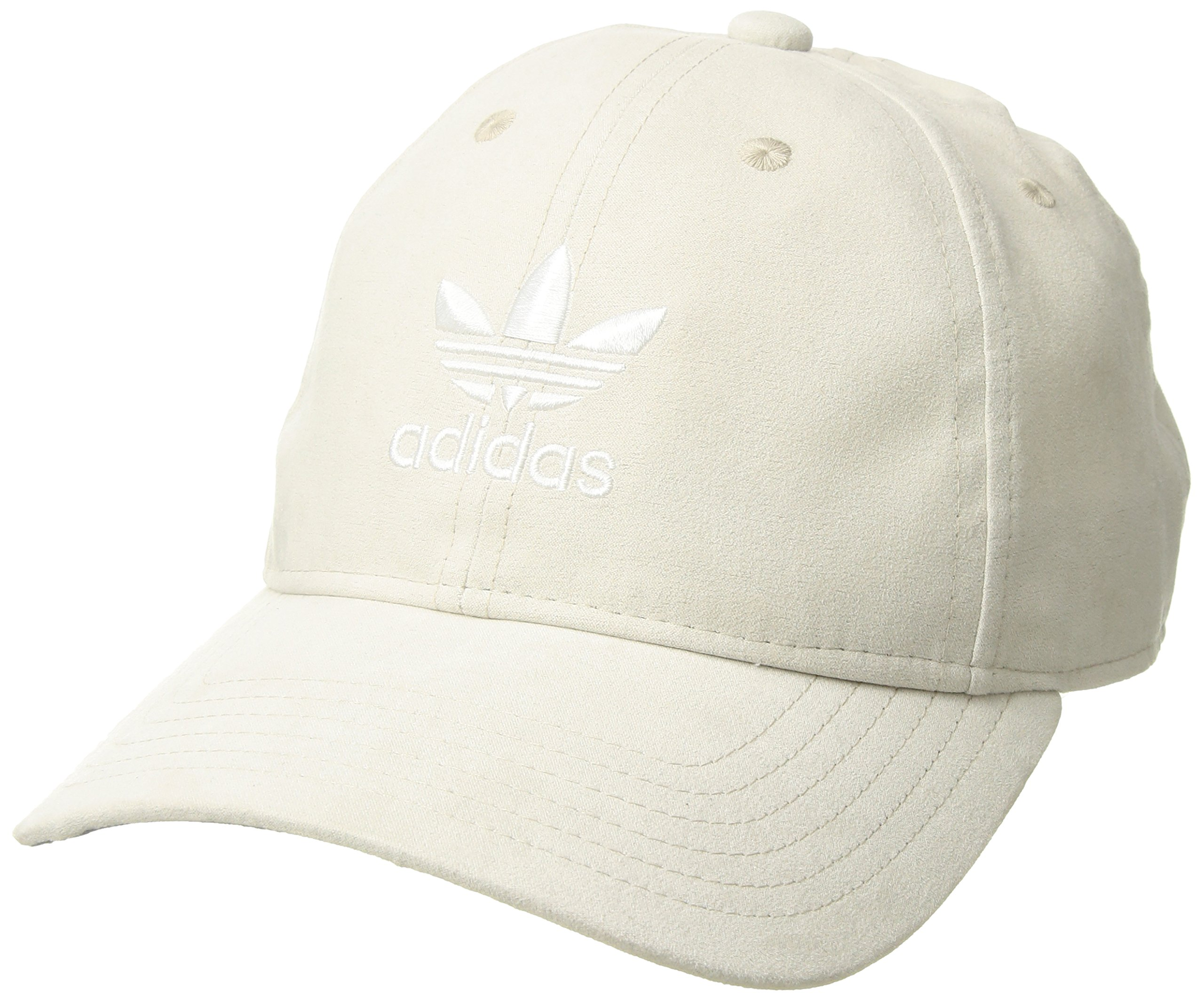 adidas Women's Originals Relaxed Plus Adjustable Strapback Cap, Clear Brown Suede/White, One Size