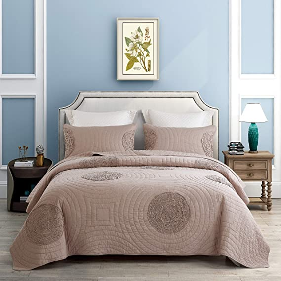 Unimall Colcha Bouti cama 135, 1 *Colcha de 230*250 cm y 2 Fundas de Almohada 50*70 cm (100% de Algodón): Amazon.es: Hogar