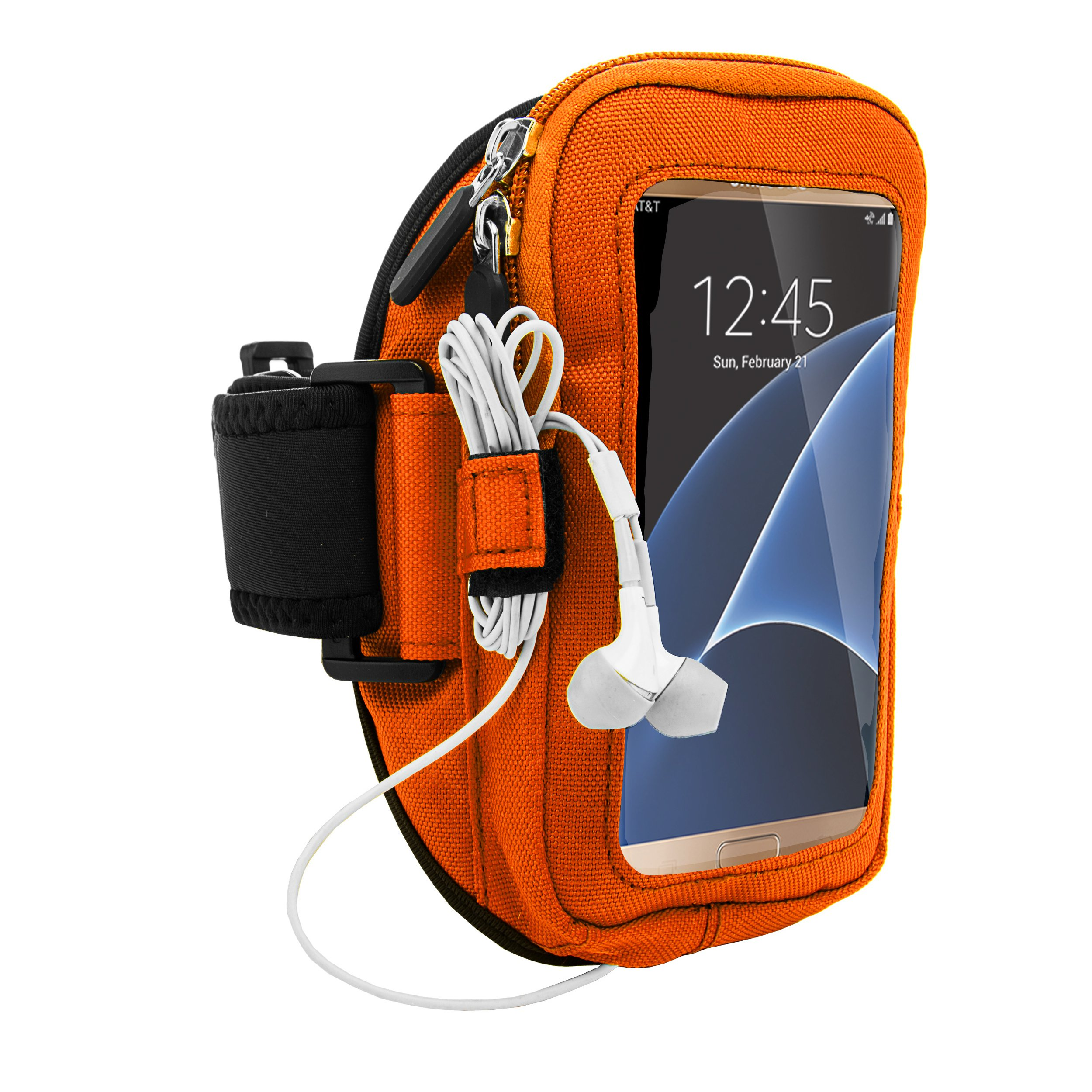 VanGoddy Universal Free Hands for Running Jogging Cycling Sports Gym Armband Case Cover for Samsung Galasy series S7 S6/Edge/A/E/J/Z/Note/On series 4.5 to 5.5 inch Android Phone