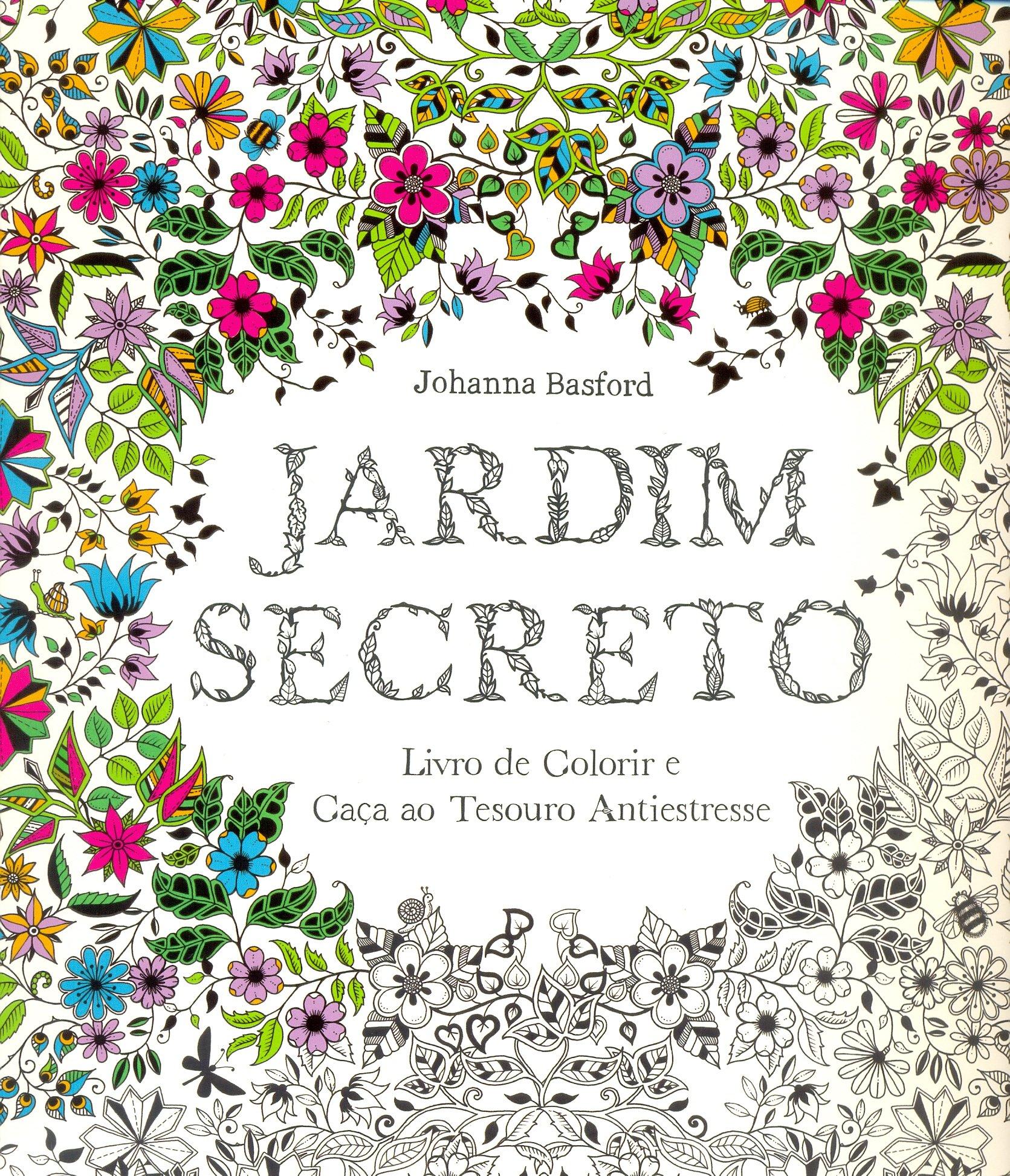 Jardim Secreto Livro De Colorir E Caca Ao Tesouro Antiestresse