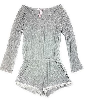 2b474459f2808f Victoria's Secret.. Long Sleeve Ribbed Romper Sleepwear S/P at ...