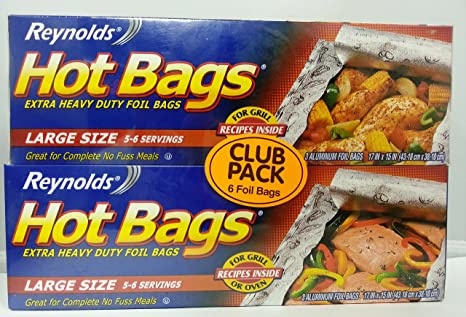 Amazon.com: Reynolds extra Heavy Duty Foil Hot bolsas para ...