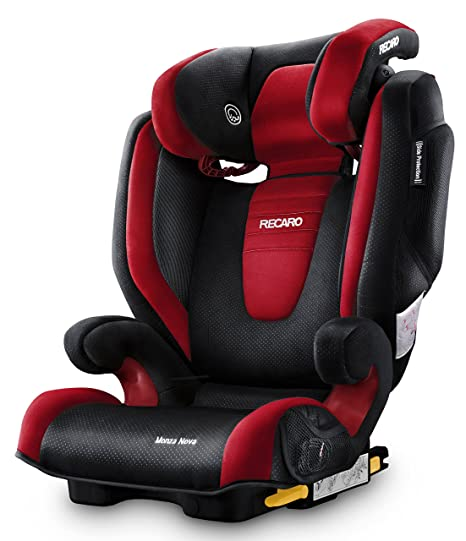 Recaro Monza Nova 2 Seatfix, Silla de coche grupo 2/3, rojo (Ruby)