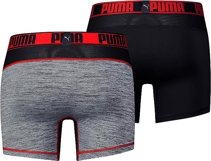 Pacco da 2 XL PUMA Active Brief 2p Packed Intimo Sportivo Black//Red 232 Rosso Uomo