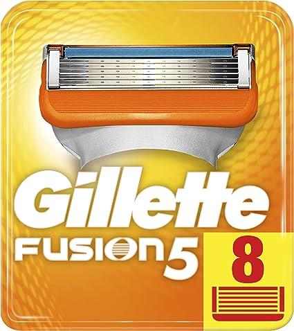 Gillette Fusion - Maquinilla de Afeitar, 8 Recambios: Amazon.es: Salud y cuidado personal