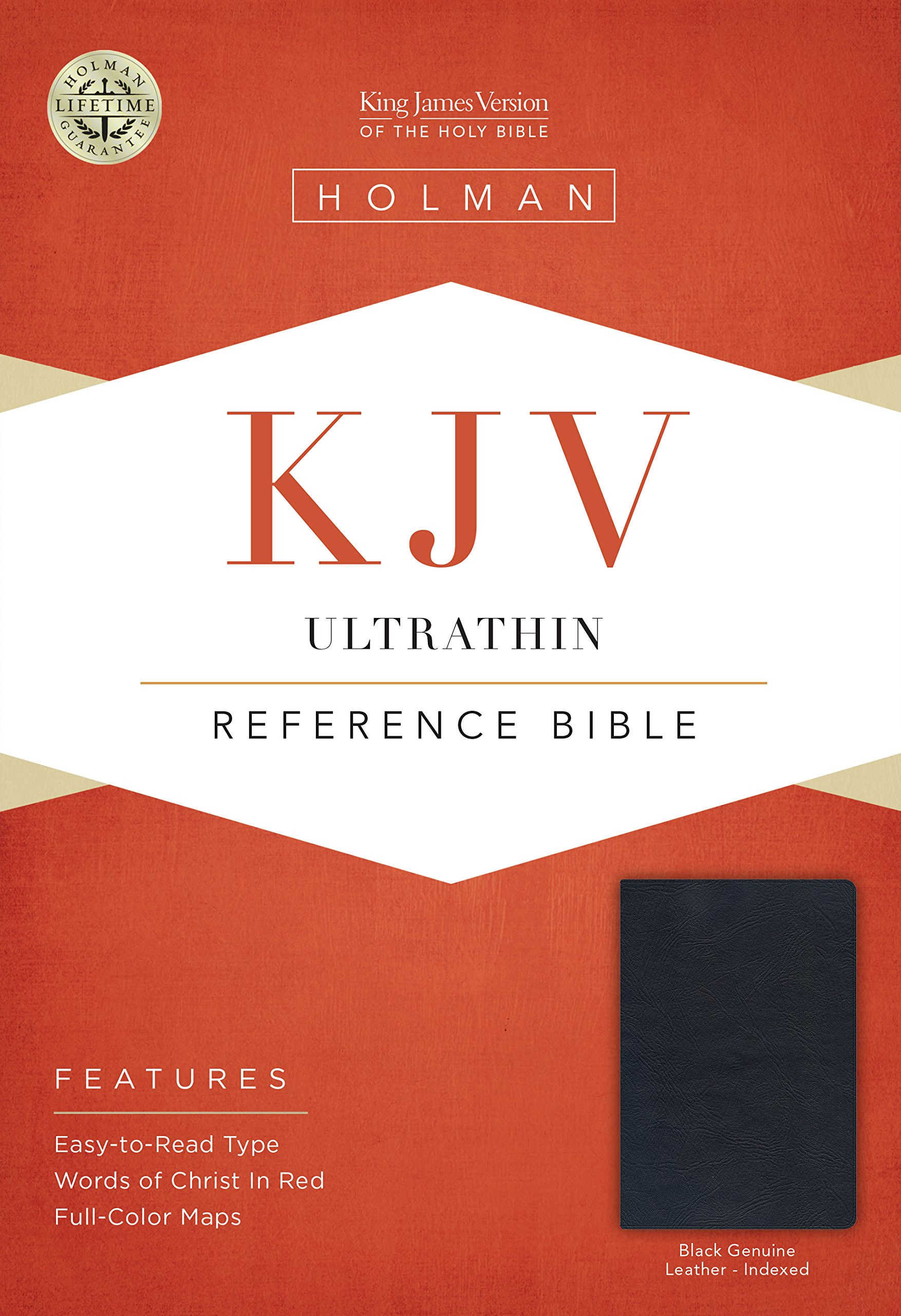 KJV UltraThin Reference Bible, Black Genuine Leather Indexed PDF ePub book