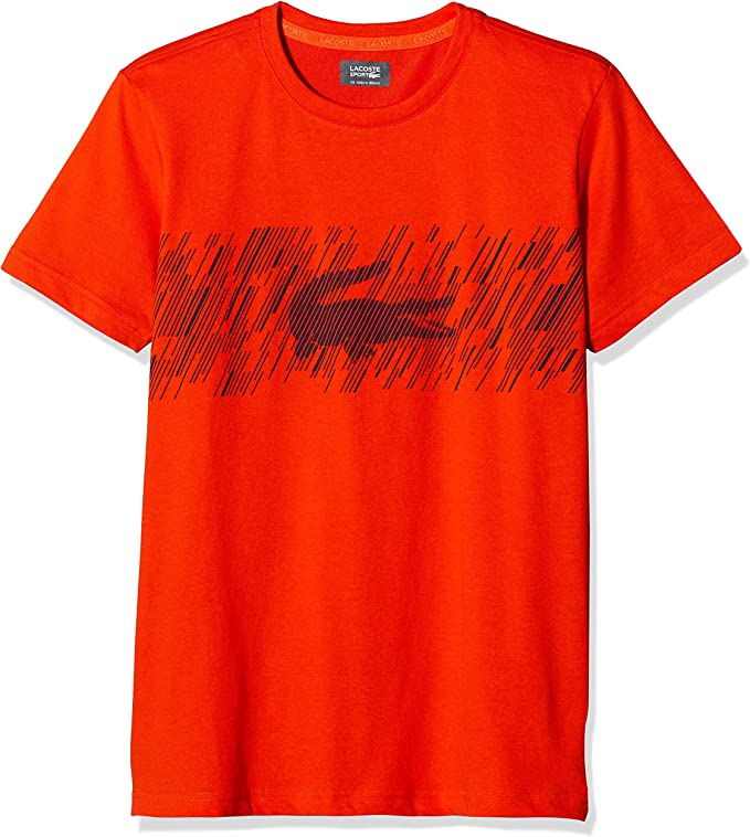 Lacoste Sport Tj6762 Camiseta, Naranja (Mexico/Marine Jvz), 10 ...