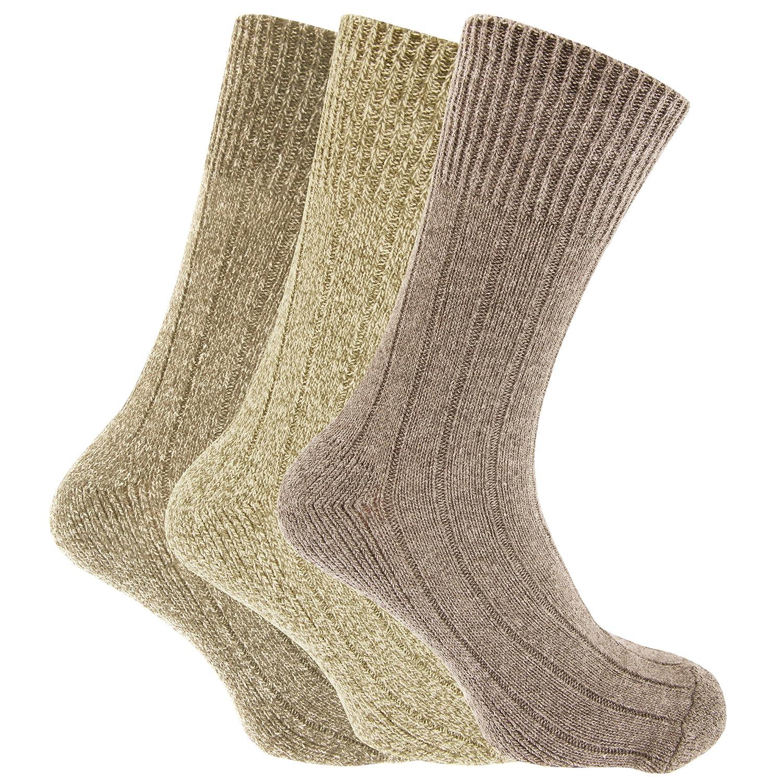 Calcetines lana Calcetines bota sin elástico para bota Modelo Chunky ...
