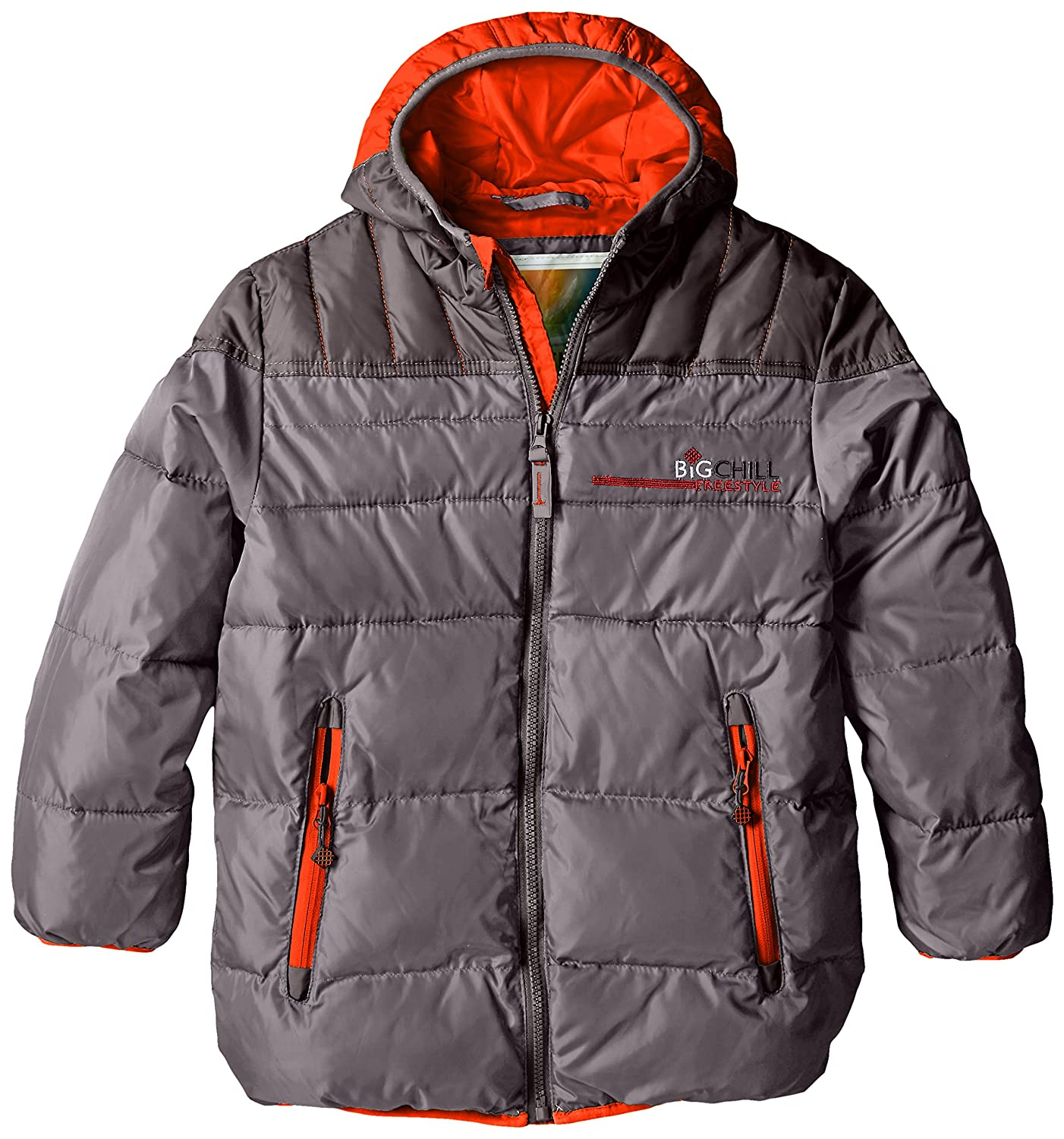 d05e3b6a8a74 Amazon.com  Big Chill Boys  Puffer Jacket with Down Fill  Clothing