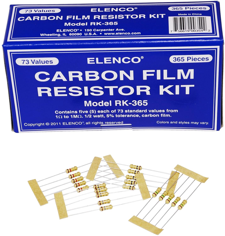 RK-365 Elenco Electronics Inc Elenco  365 Piece Resistor Kit