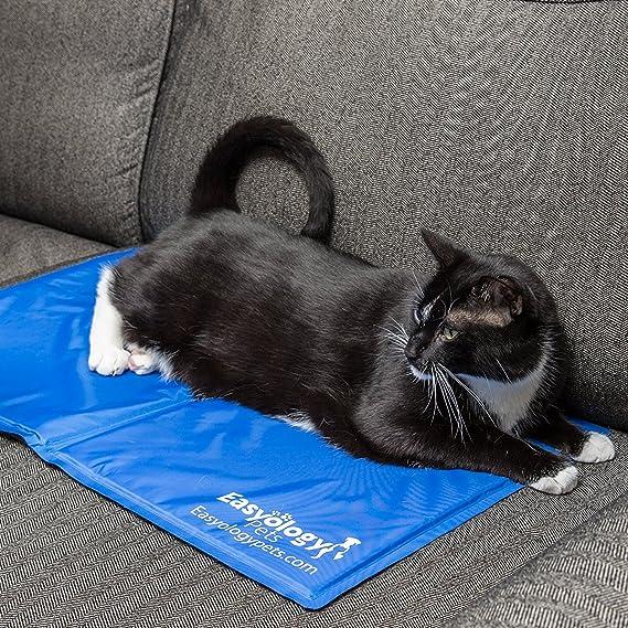 Colchoneta refrigerante para mascotas - cojín de gel frío para gatos y perros - Lo mejor para mantener a tus mascotas fresquitas - Tamaño perfecto para el ...