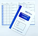 Hygi First Temperature Log Book A5 for recording appliance temperatures 6 Months Period