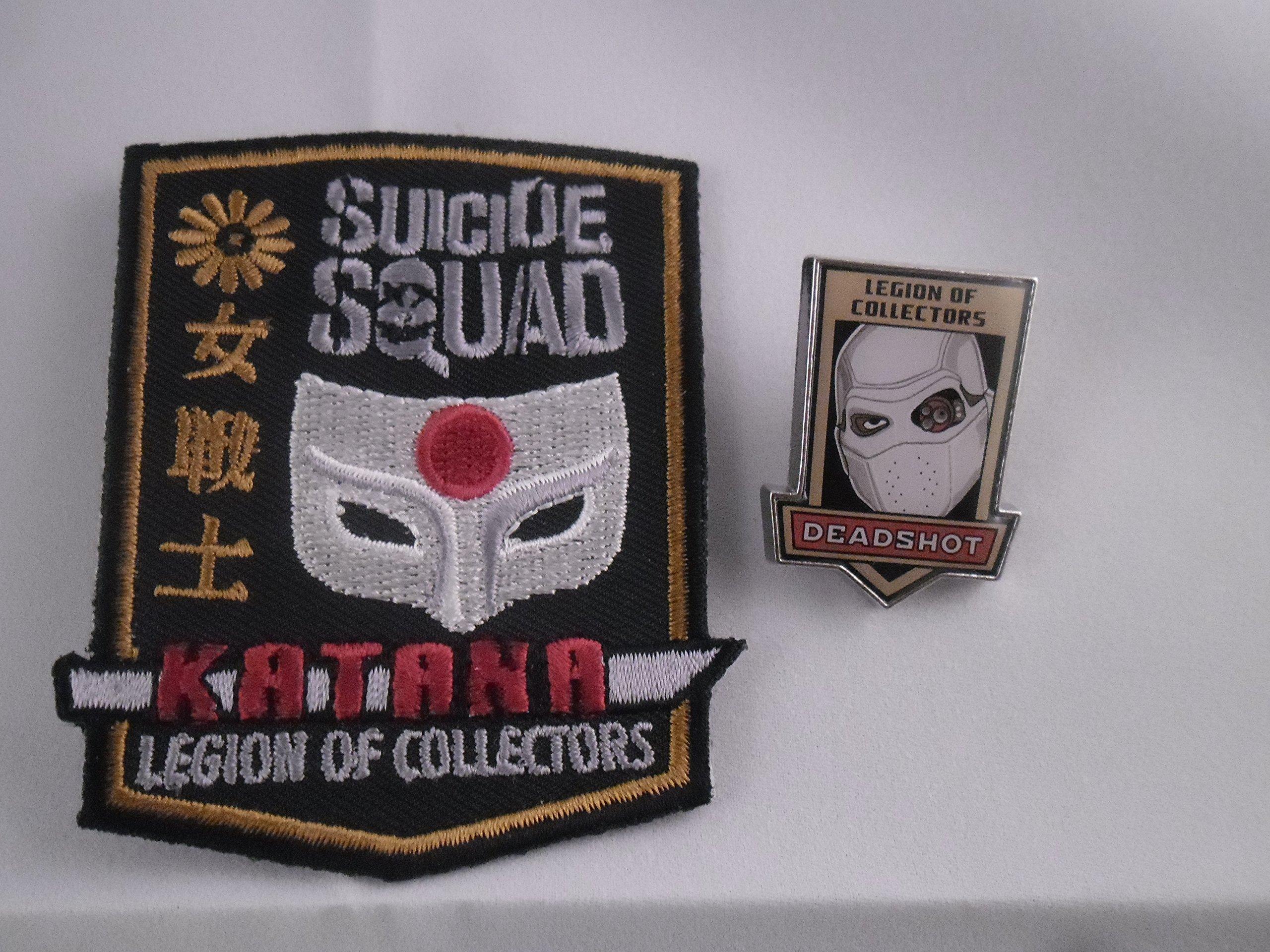 Suicide Squad Katana Patch + Deadshot Pin