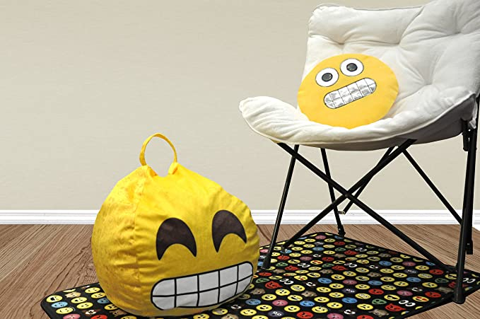 Amazon.com: Emoji Pals Flawless – Puf con asa, Amarillo, 55 ...