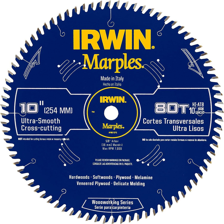 Irwin tools 1807370 Marples laser cut  10-Inch 80-Tooth Hi-Alternate Tooth Bevel
