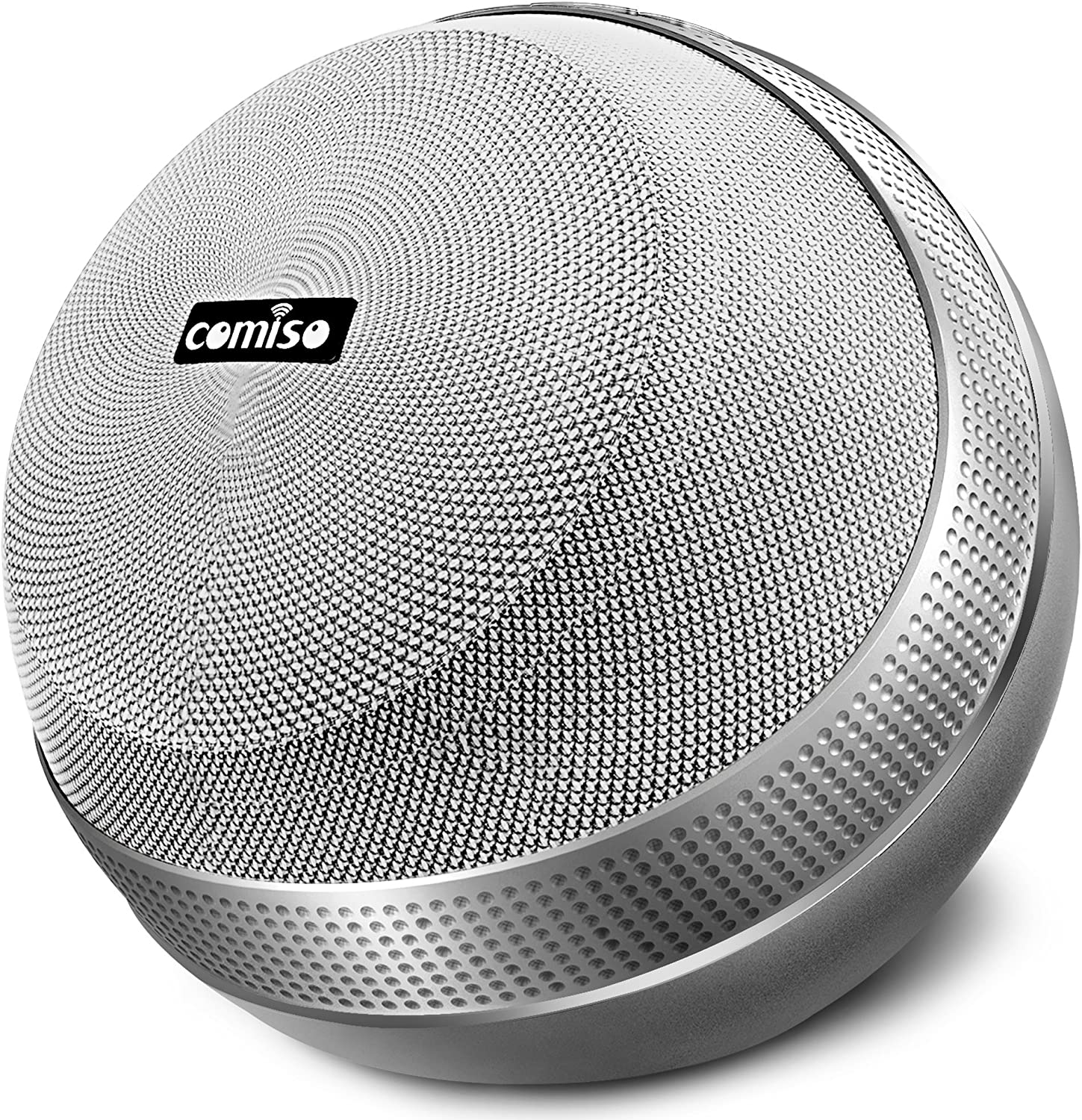 COMISO HomeAudio 40W Bluetooth Speakers, Loud Dual Driver Hi-Fi Wireless Bluetooth Speaker with HD Audio and Enhanced Bass, Wireless Stereo, Built in Mic, Aux Input, Long-Lasting Battery Life (Grey)