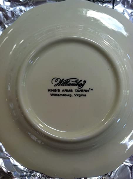 Large Rim Soup Bowl Williamsburg KING/'S ARMS TAVERN Pattern Table Ware Royal Dinner Place Setting Crest Lions Meal Dish Gift Scalloped Edge