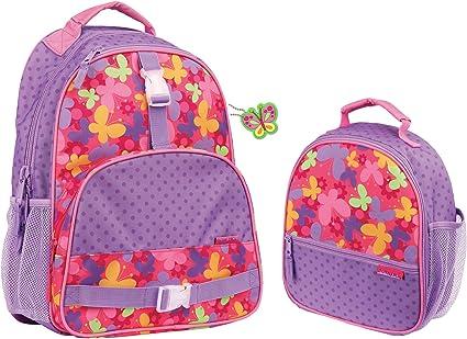 Stephen Joseph Girls All Over Print Butterfly School Lunch Box for Kids