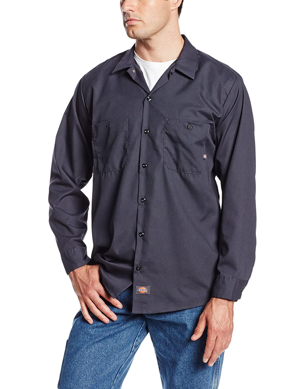 Dickies Mens Long Sleeve Industrial Work Shirt DIC-LL535