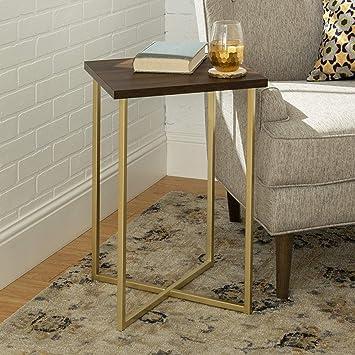 """16/"""" Square Modern Frame Legs Set of 2 Vintage Metal 16/""""X16/""""X3.9/"""" for Tables Desk"""