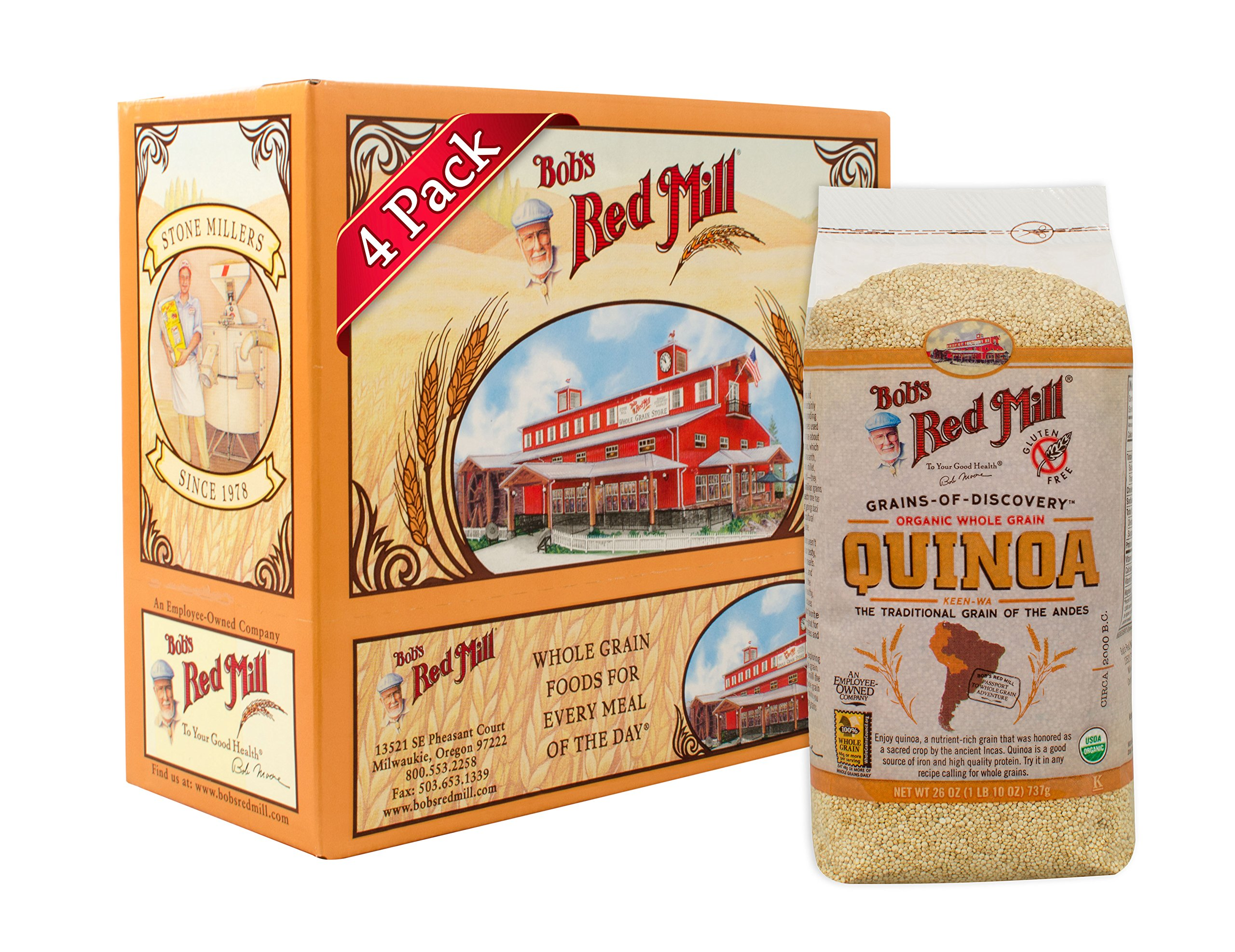 Bob's Red Mill Organic Grain Quinoa, 26 Ounce Packages (Pack of 4) by Bob's Red Mill