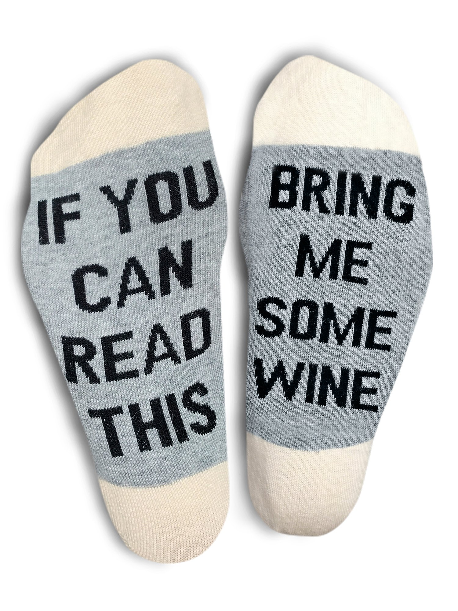 TheOnly Wine Gift Wine Socks - and Gift Box''If you can read this bring me some wine'' Perfect Christmas Gift for Wine Lovers, Birthdays, White Elephant, Mother Gift, Wife or Best Friend Wine Socks by The Only Gift Worth Giving (Image #6)