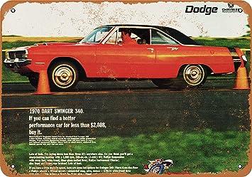 amazon com wall color 7 x 10 metal sign 1970 dodge dart swinger1970 Dodge Dart Colors #17