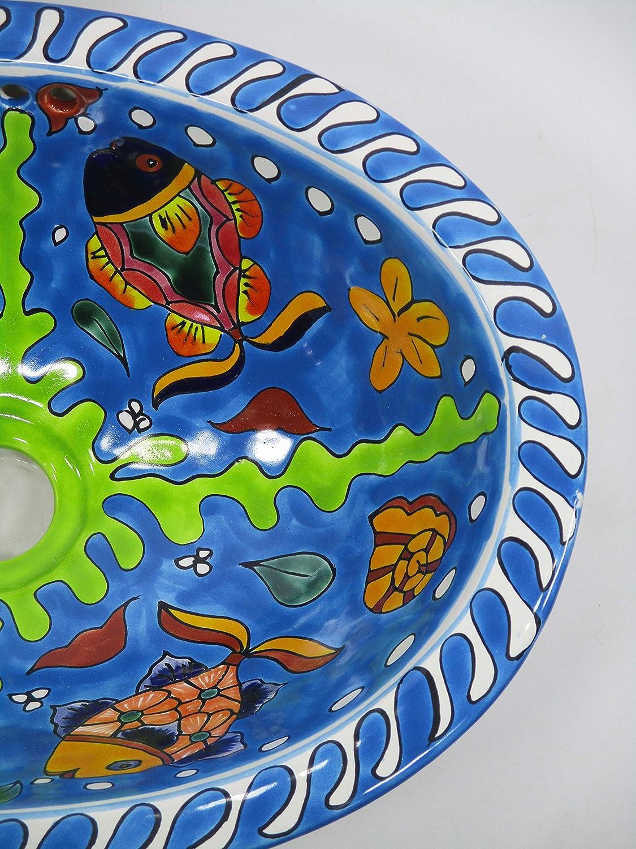 16 X 12 TALAVERA SINK drop in or undermount mexican bathroom handmade ceramic