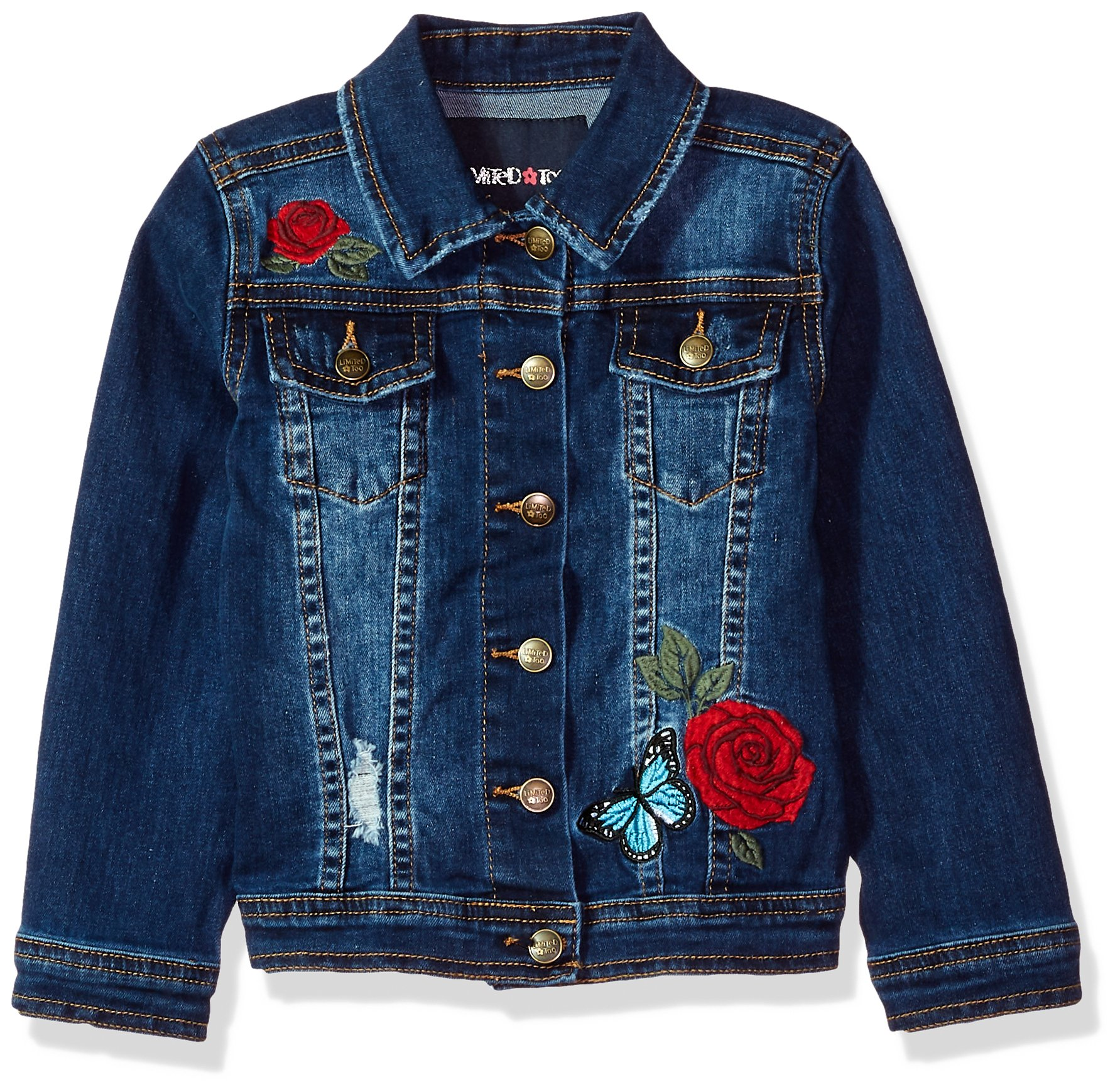 Limited Too Little Girls' Jean Jacket, Dark Blue, 7/8 by Limited Too (Image #1)