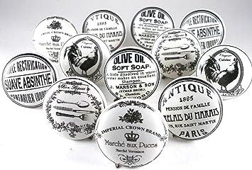 Lot de 12 boutons de Porte Placard Tiroir Meuble Vintage Shabby ...