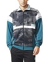 Adidas Originals Mens Brion Snow Camo Track Jacket Black/Green