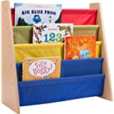 Honey-Can-Do SHF-05077 Itsy-Bitsy Book Rack, Primary Colors