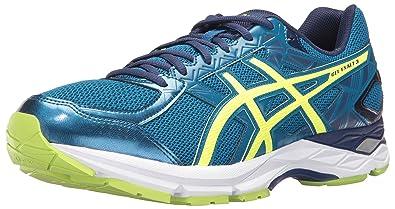 91773443ba ASICS Men's Gel-Exalt 3 Running Shoe, Thunder Safety Yellow/Indigo Blue,