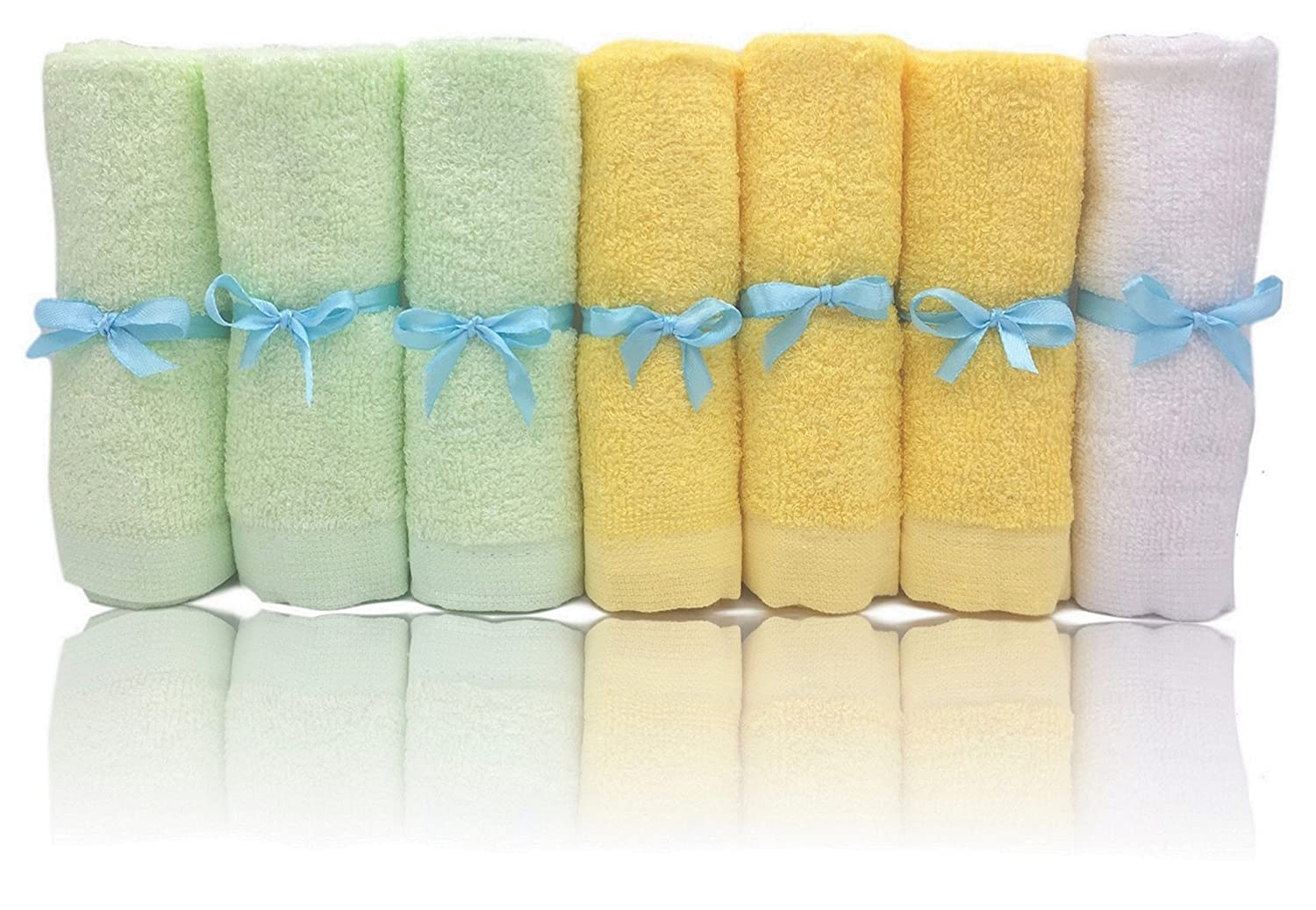 Bamboo Baby Washcloths Soft Organic 7 Pack Perfect for Baby Bathing Skin Care Josh and Jill Baby Shoppe