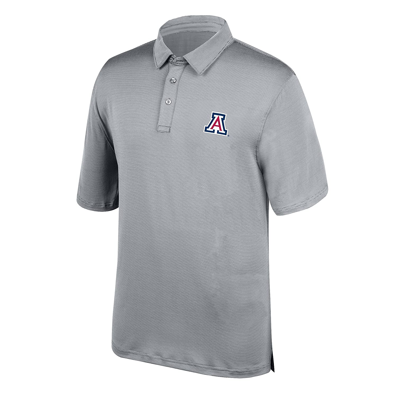Large Cement J America NCAA Mens Arizona Wildcats Yarn Dye Striped Team Polo Shirt