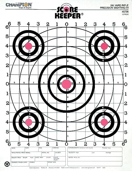"Champion 47388 Rimfire vue-En Diamant Precision Rifle 16/"" 10Pk Shooting Target"