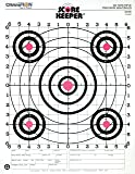 Champion Range and Target Score Keeper Fluorescent Orange Bull 100-yard Sight-in Rifle Target (Pack of 12) (45726)