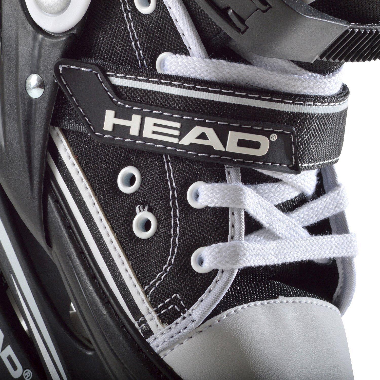 HEAD Cool Patins /à roulettes en Ligne pour Enfant avec roulement /à Billes ABEC 5 et Ajustables sur 4 Pointures pour Le Sport et Les Loisirs Noir//Blanc