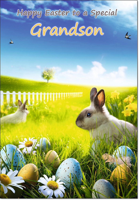 Doodlecards Grandson Easter Card Medium